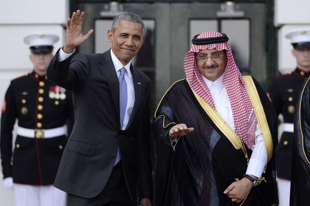 Barack Obama se zástupcem Saúdské Arábie