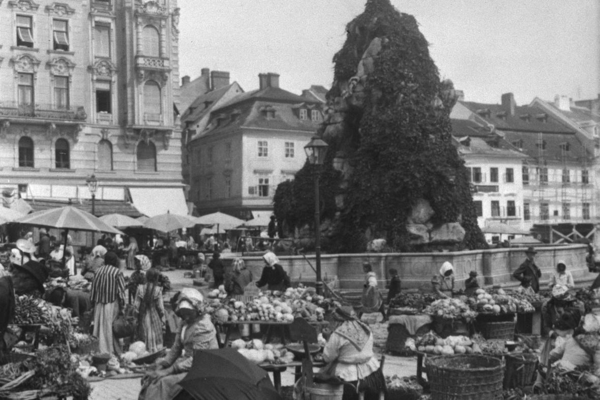 Zelný trh v roce 1931