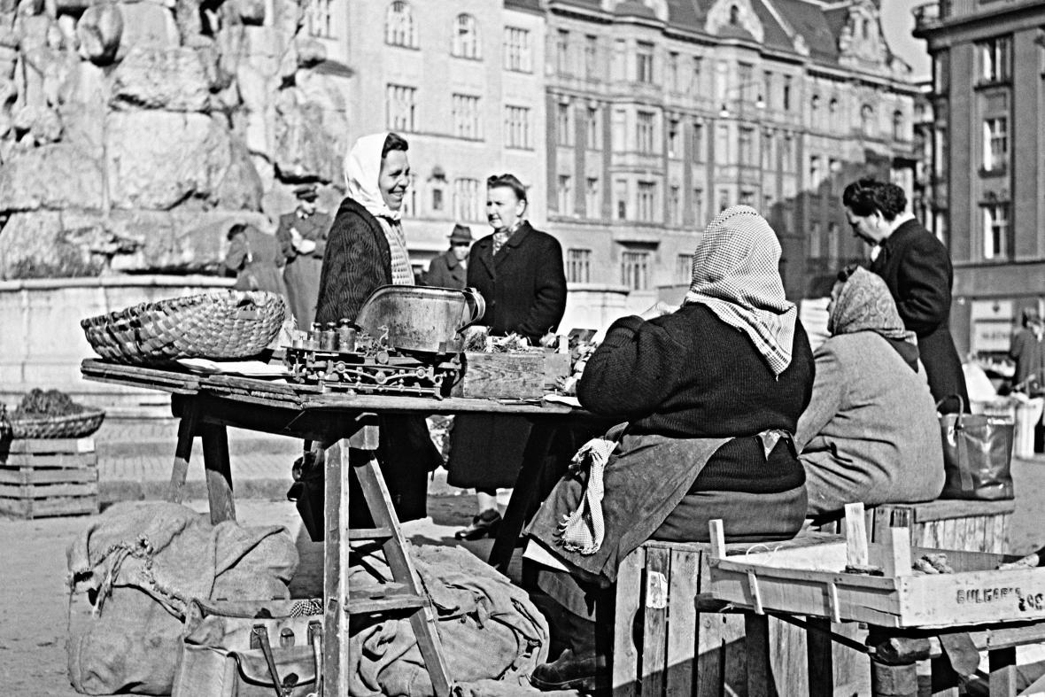Zelný trh v roce 1960