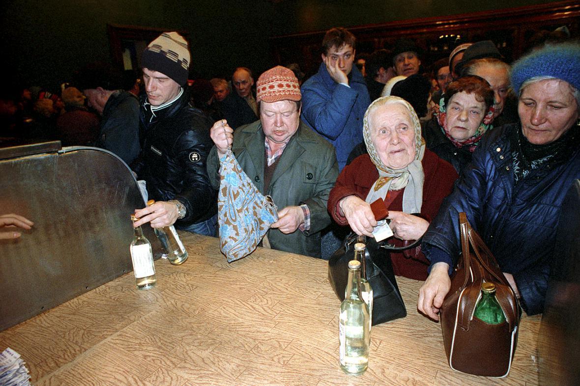 Fronta na lihoviny v Sovětském svazu