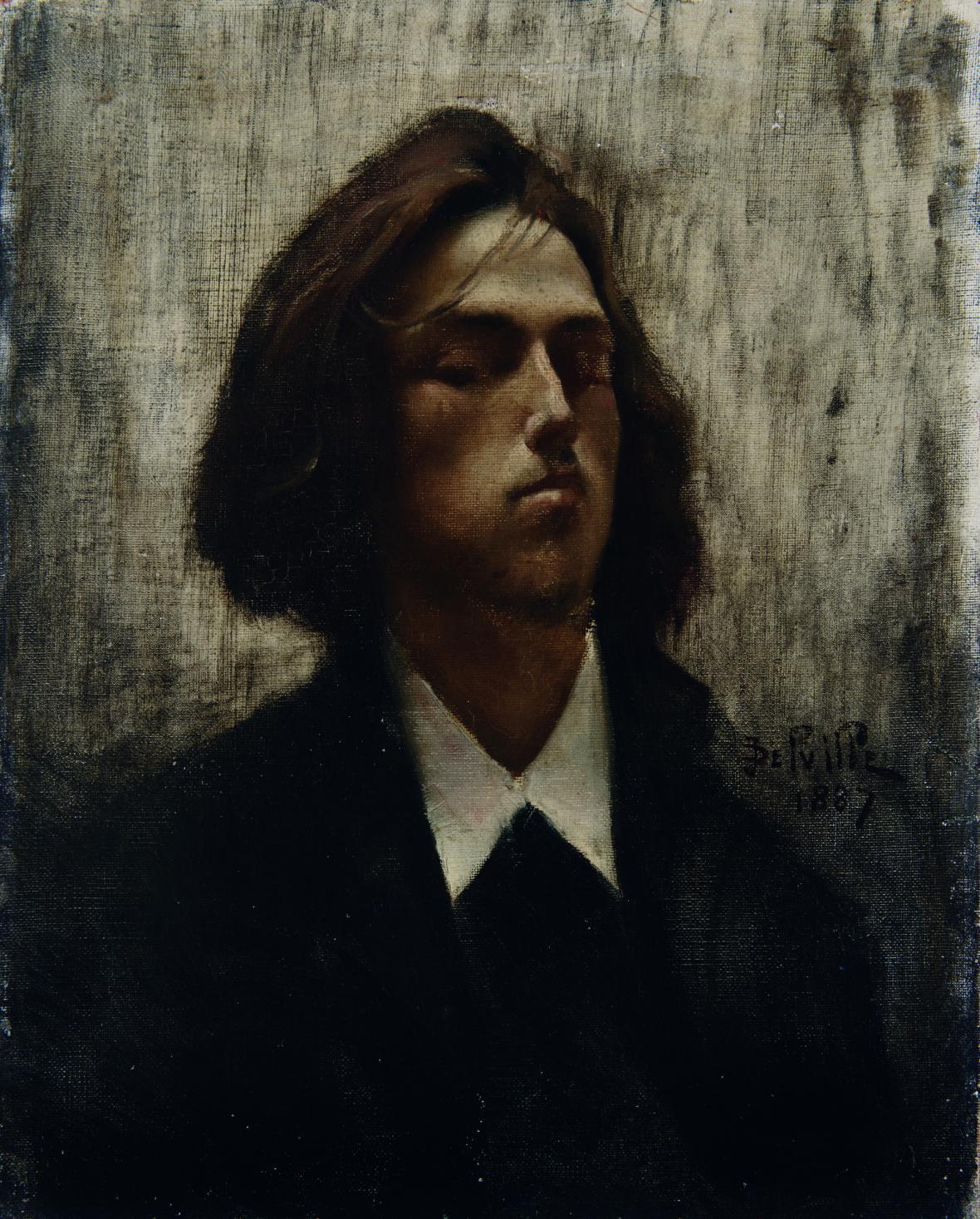Jean Delville / Autoportrét, 1887