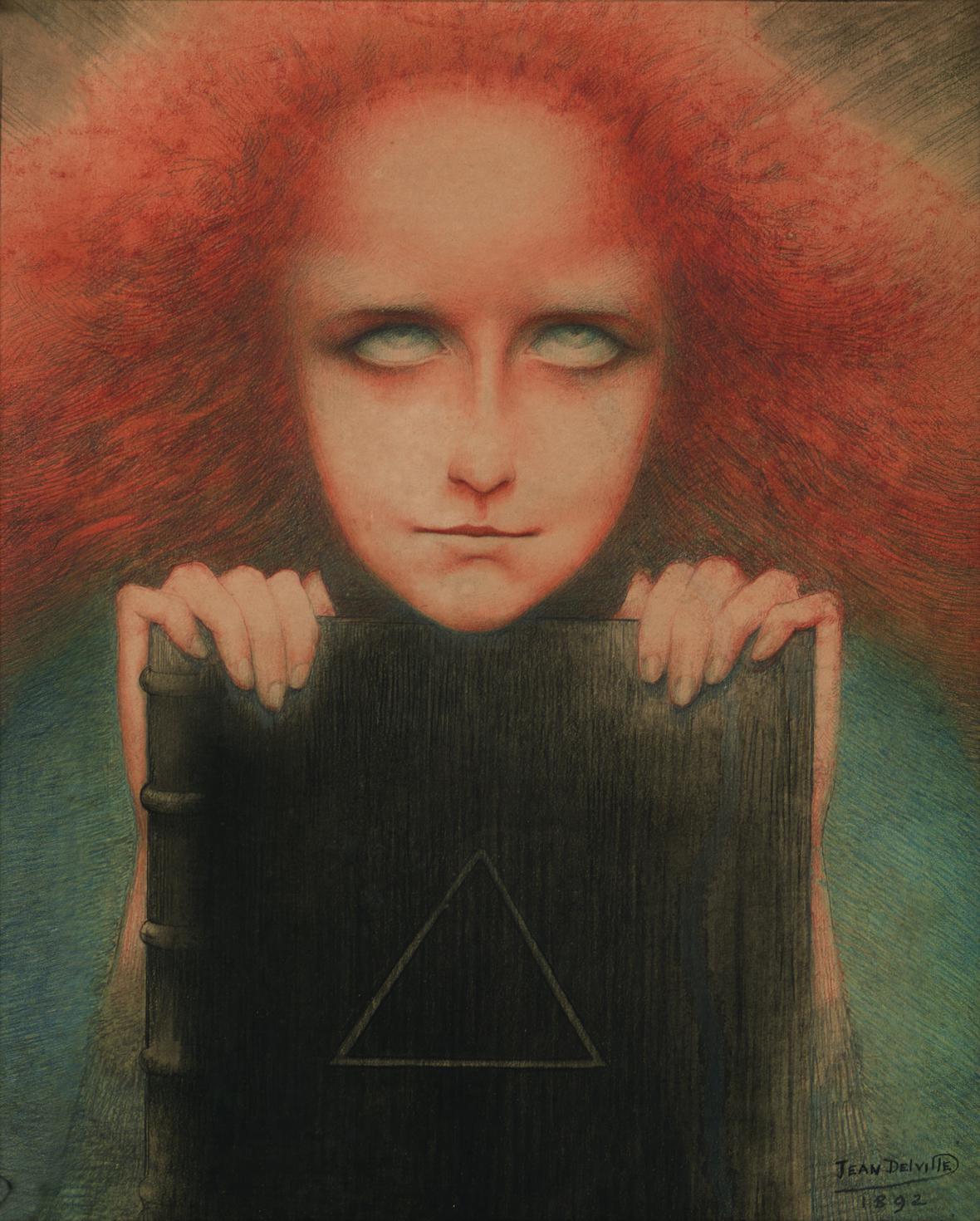Jean Delville / Portrét paní Stuart Merrill nebo Mysteriosa, 1892