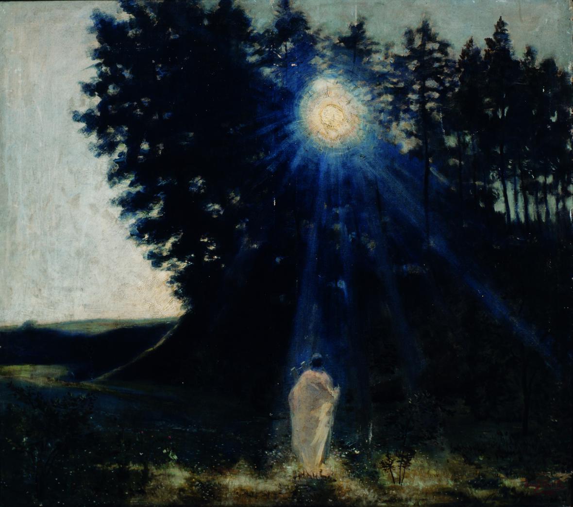 Jean Delville / Krajina ve svitu měsíce, 1887–1890