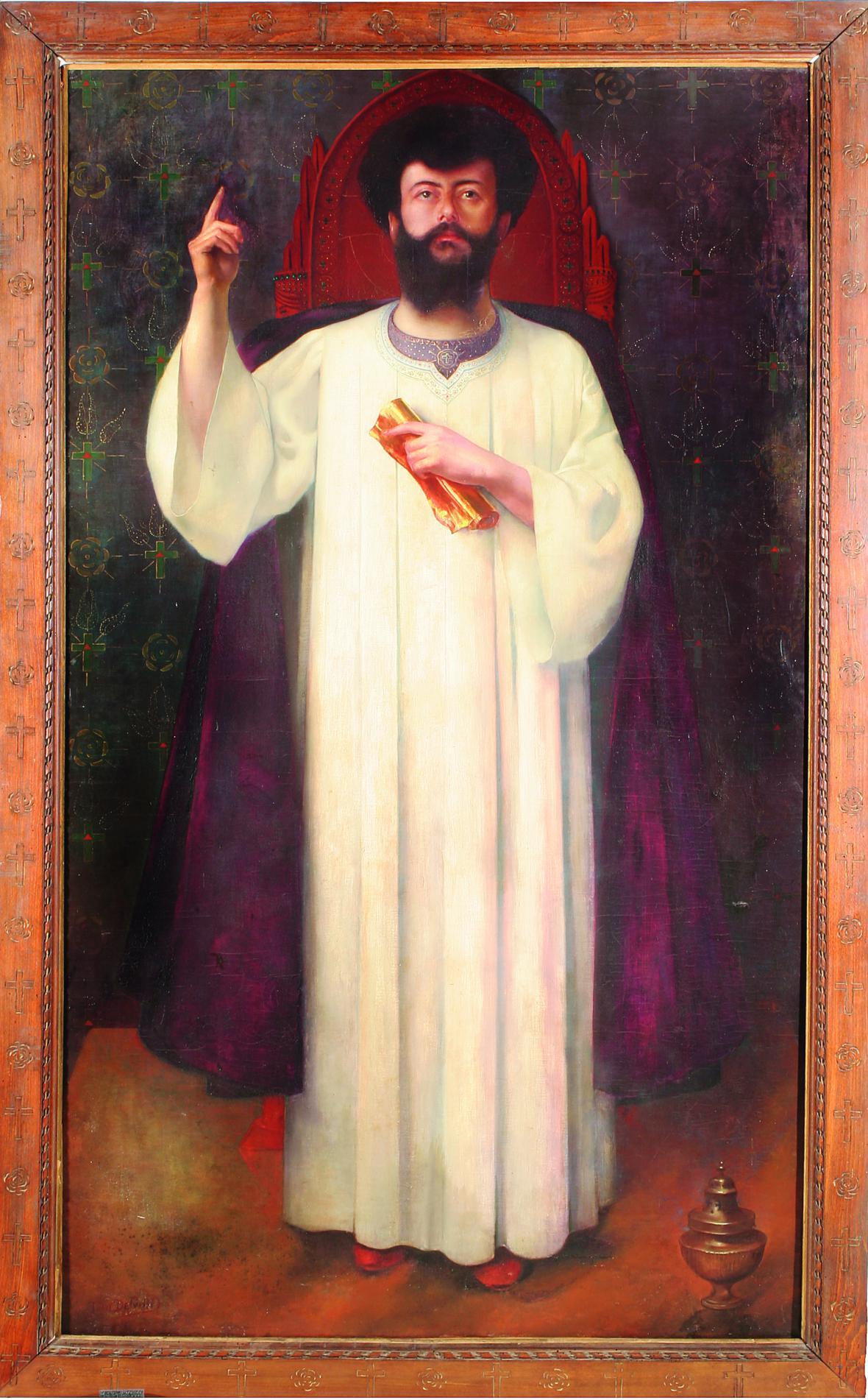 Jean Delville / Portrét spisovatele Joséphina Péladana, 1894