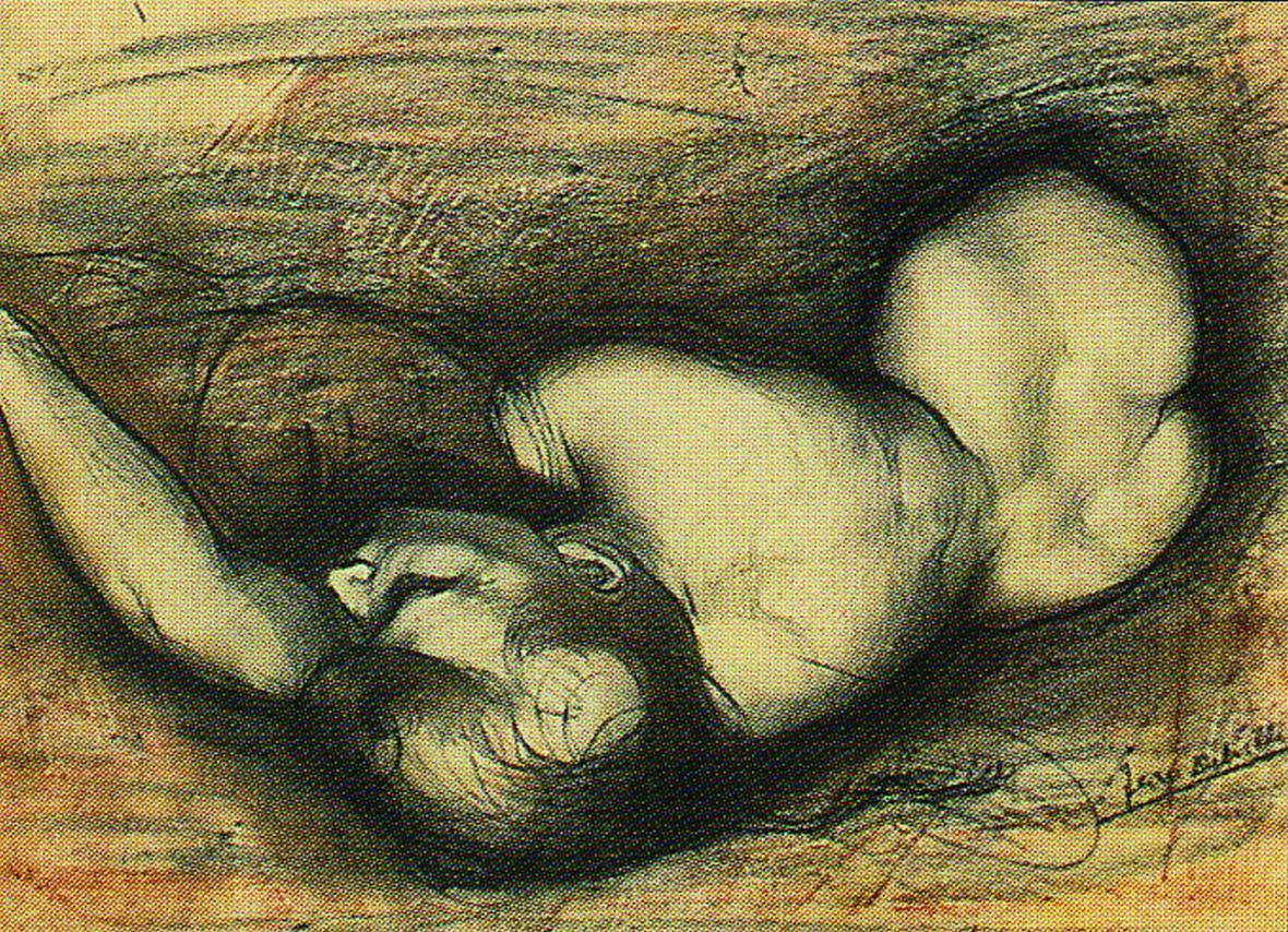 Jean Delville / Studie k Cyklu vášně, zhruba 1890