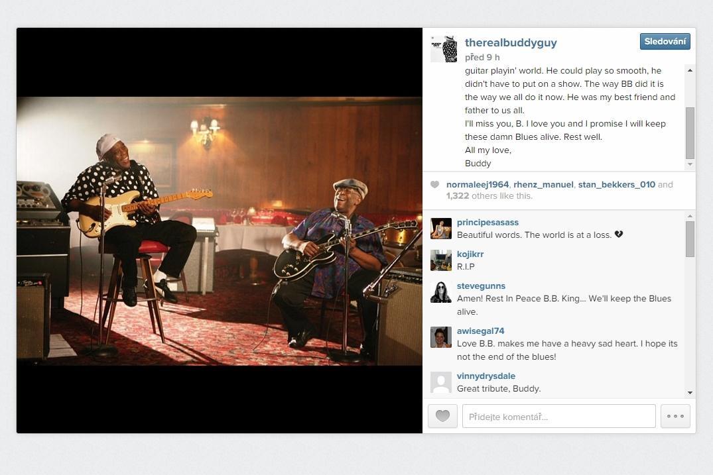 Instagram Buddyho Guye k úmrtí B. B. Kinga