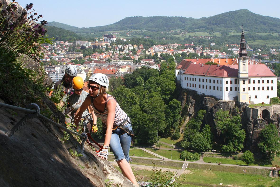 Horolezecká stezka v Děčíně