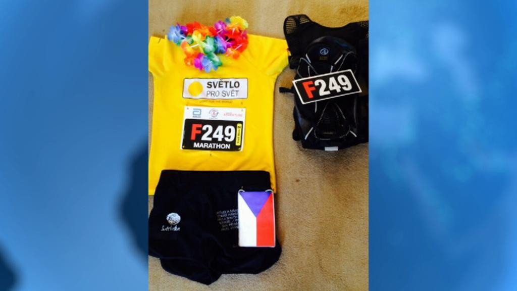 Sportovní úbor, v němž Jitka Křížová uběhla Great Wall Marathon