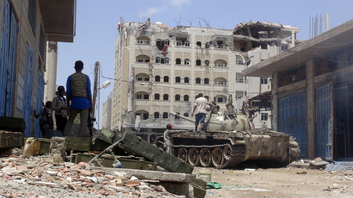 Situace v jemenském přístavním městě Aden