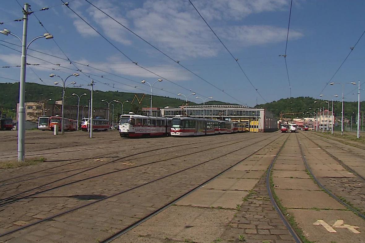 Tramvajová vozovna v Pisárkách