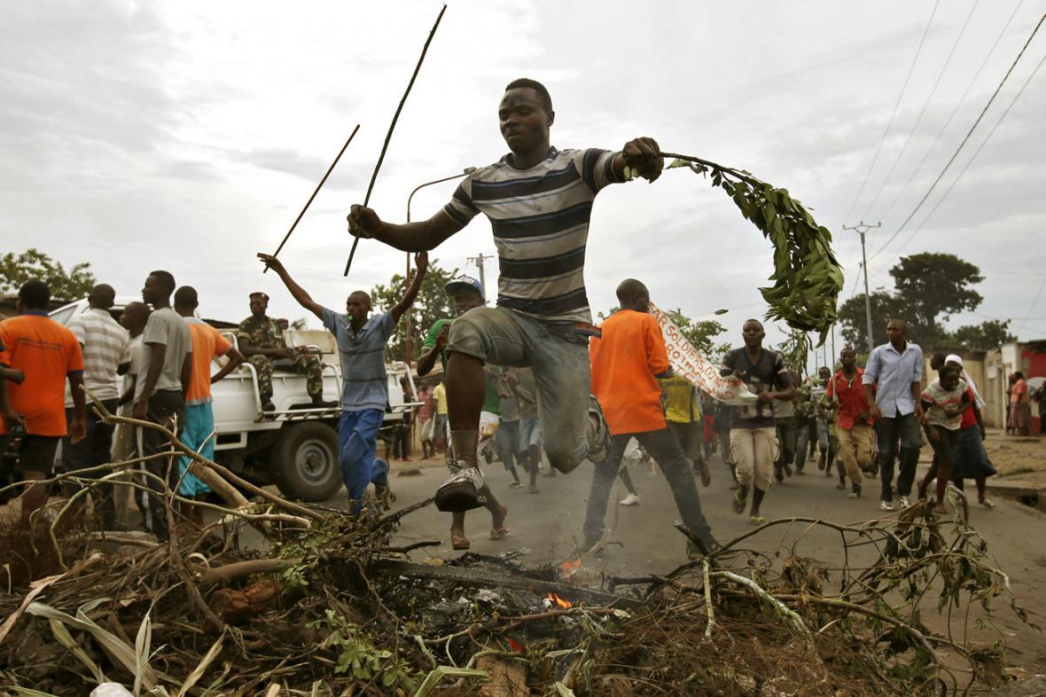 Pondělní protesty v Burundi