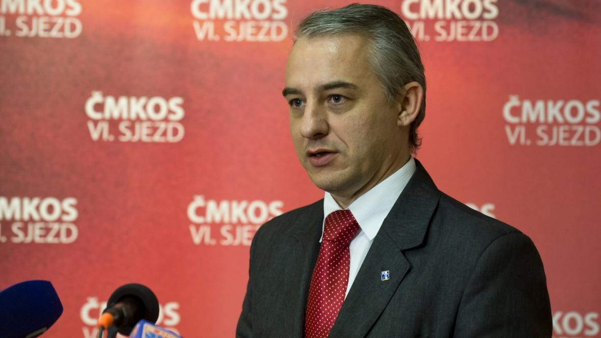 Předseda ČMKOS Josef Středula
