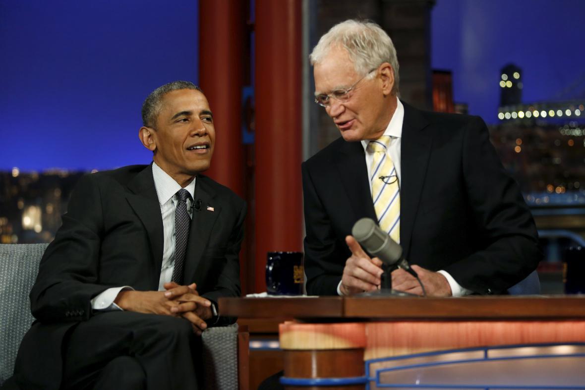 Barack Obama v Lettermanově show