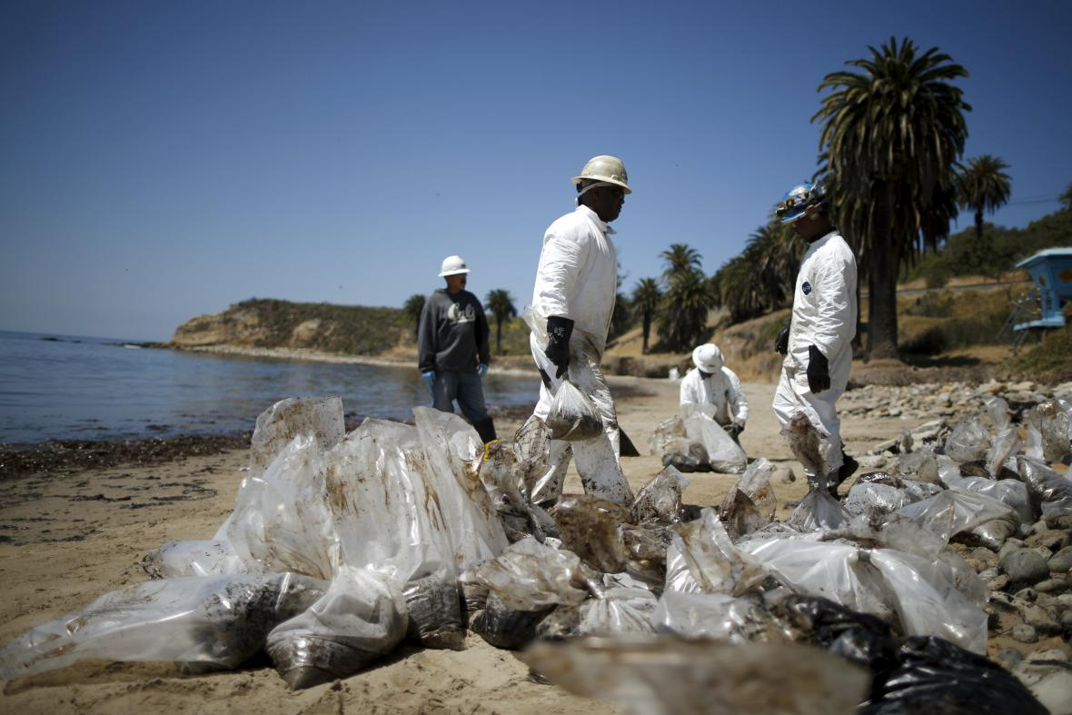 Ropná havárie u kalifornské Santa Barbary