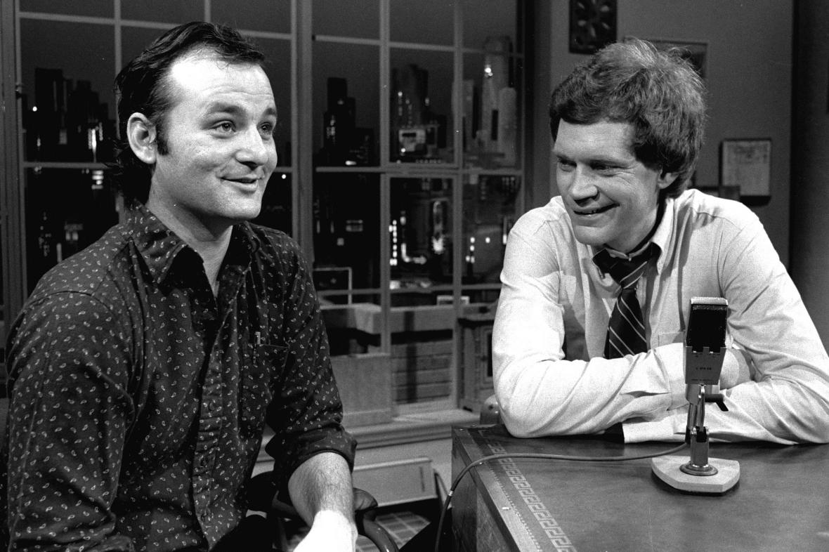 Bill Murray a David Letterman v Late Show (1982)