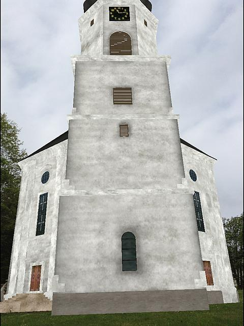 Virtuální podoba exteriéru kostela