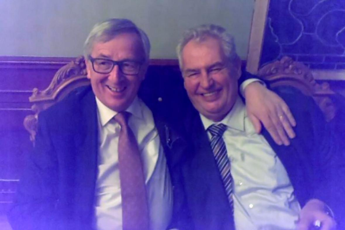 Jean-Claude Juncker a Miloš Zeman