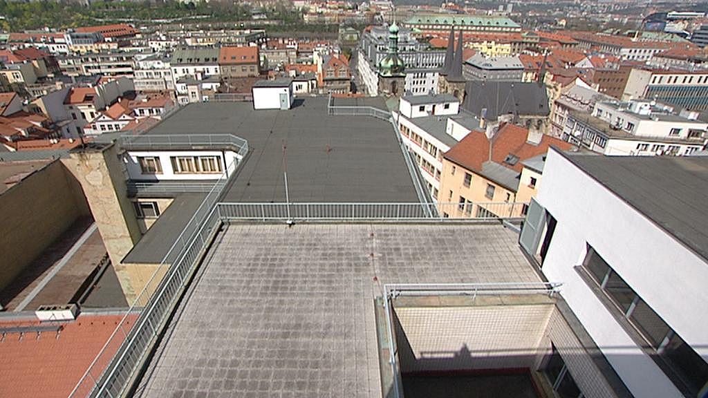 Terasa na střeše Bílé labutě