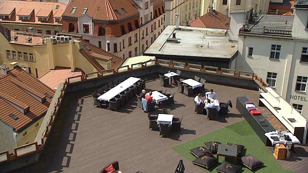 Terasa na střeše Kotvy