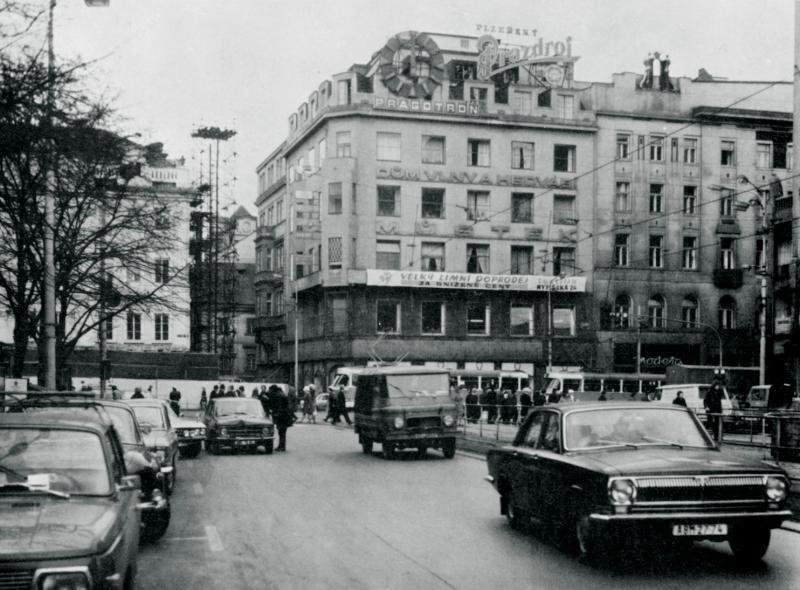 Budova ČKD na archivní fotografii