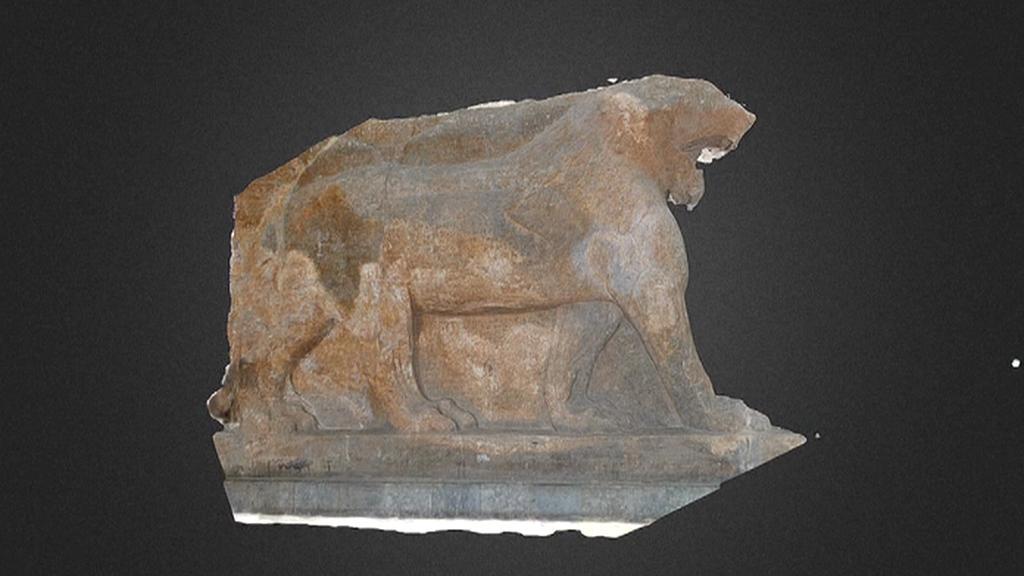 Virtuální verze mosulského lva