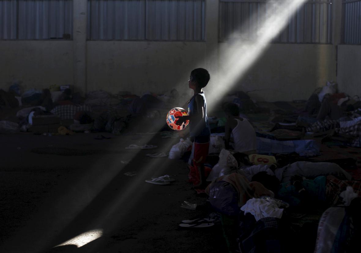 Uprchlický tábor v Acehu