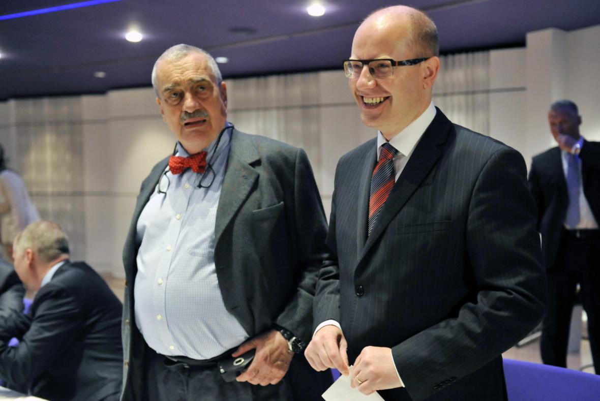 Karel Schwarzenberg a Bohuslav Sobotka
