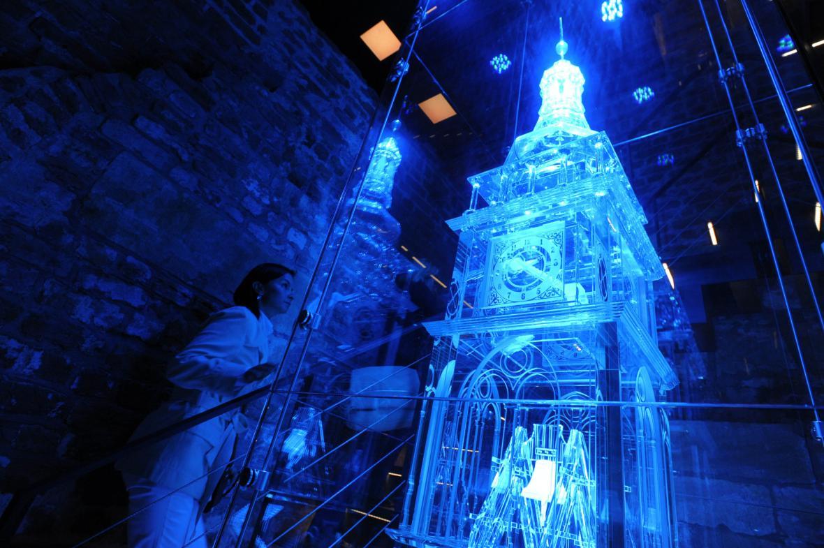 Skleněný model v Bílé věži v Hradci Králové