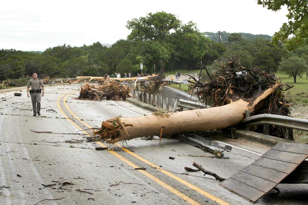 Následky bouří v Texasu