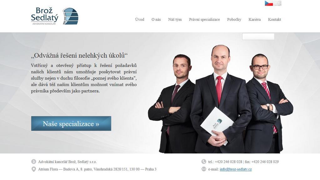 Web kanceláře Brož, Sedlatý