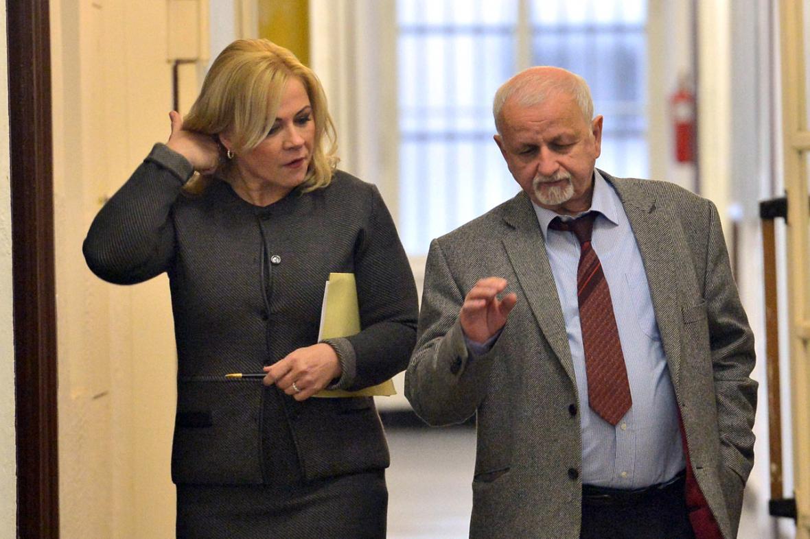 Jana Nečasová a její obhájce Eduard Bruna