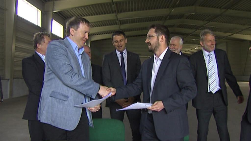 Podpis smlouvy - Loučovice - rok 2013