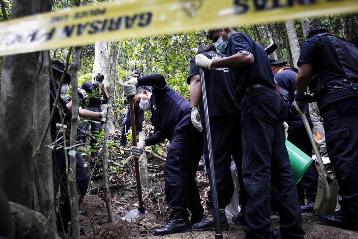 Masový hrob v Malajsii
