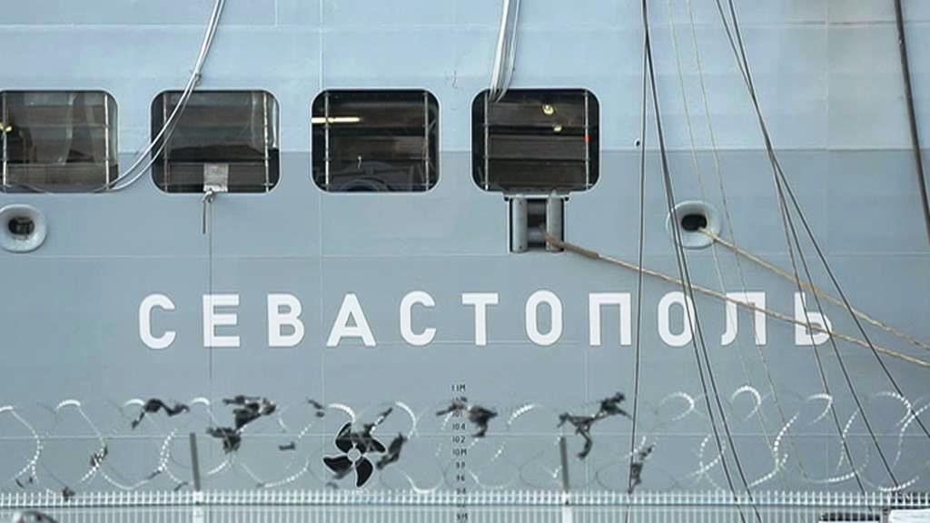 Francouzský mistral Sevastopol určený původně ruskému námořnictvu