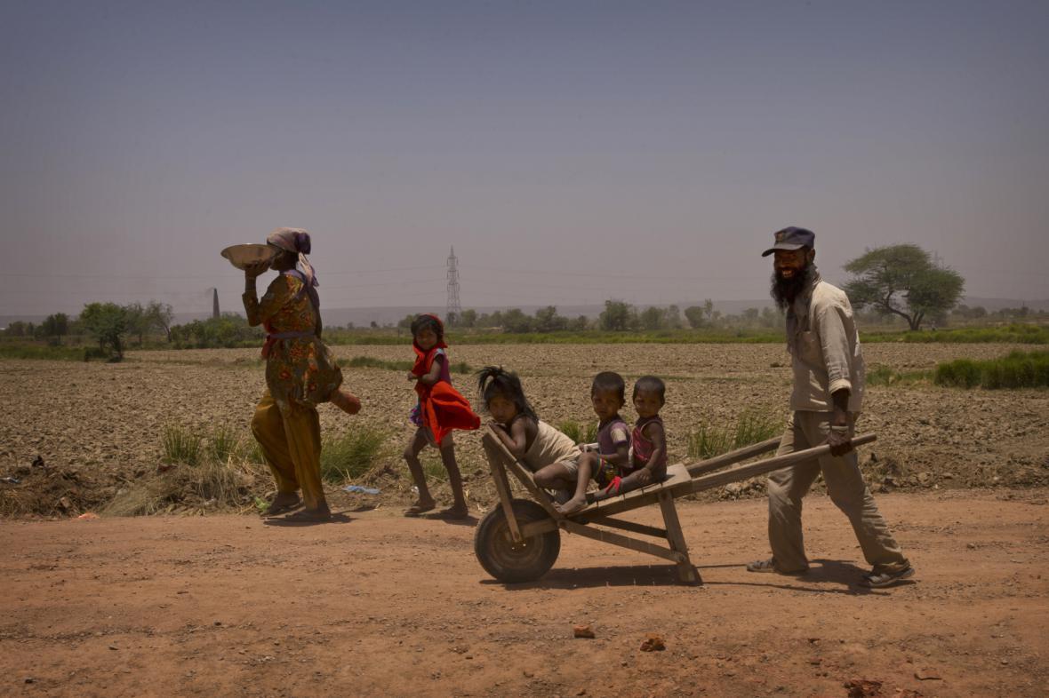 Horké a suché počasí v Indii