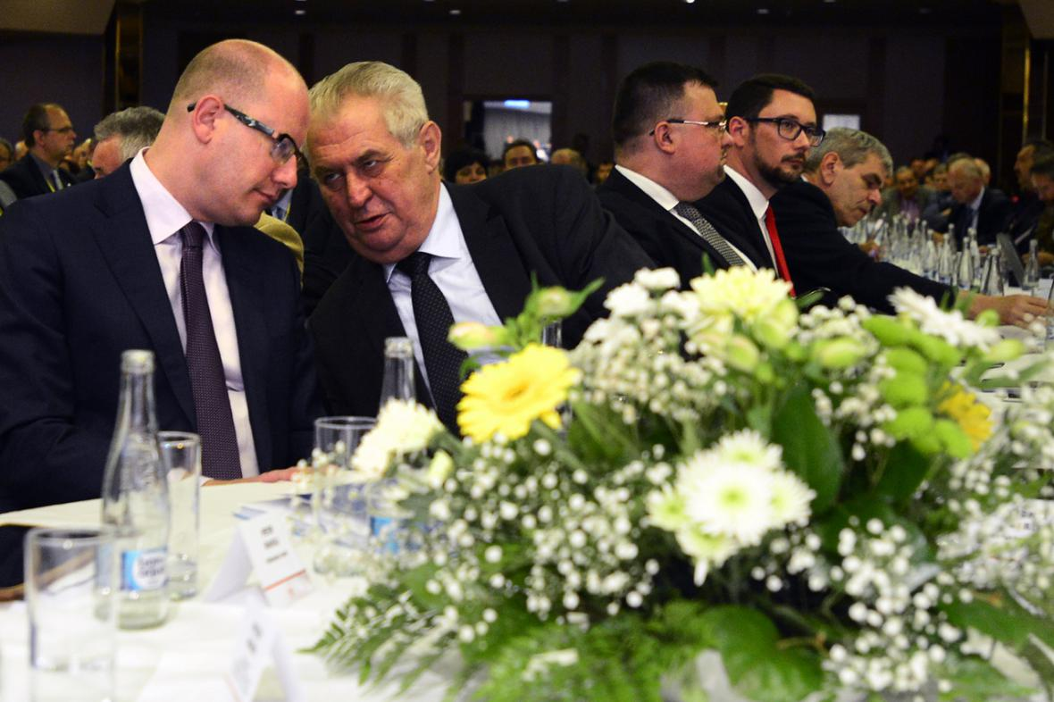 Miloš Zeman na sněmu Hospodářské komory