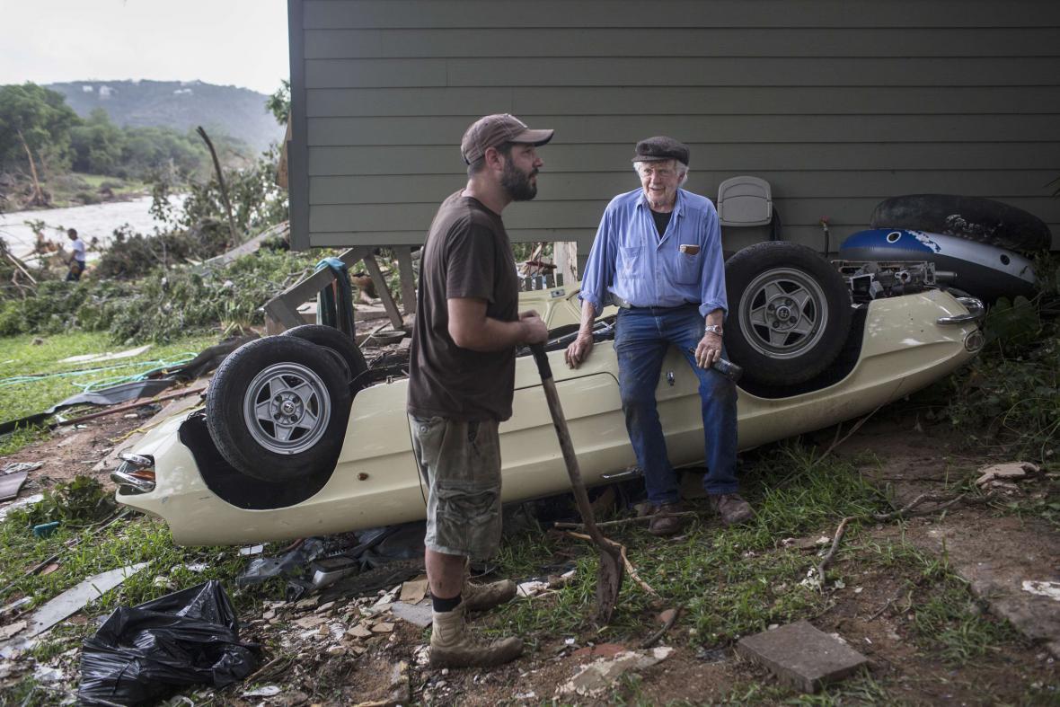 Následky záplav v Texasu