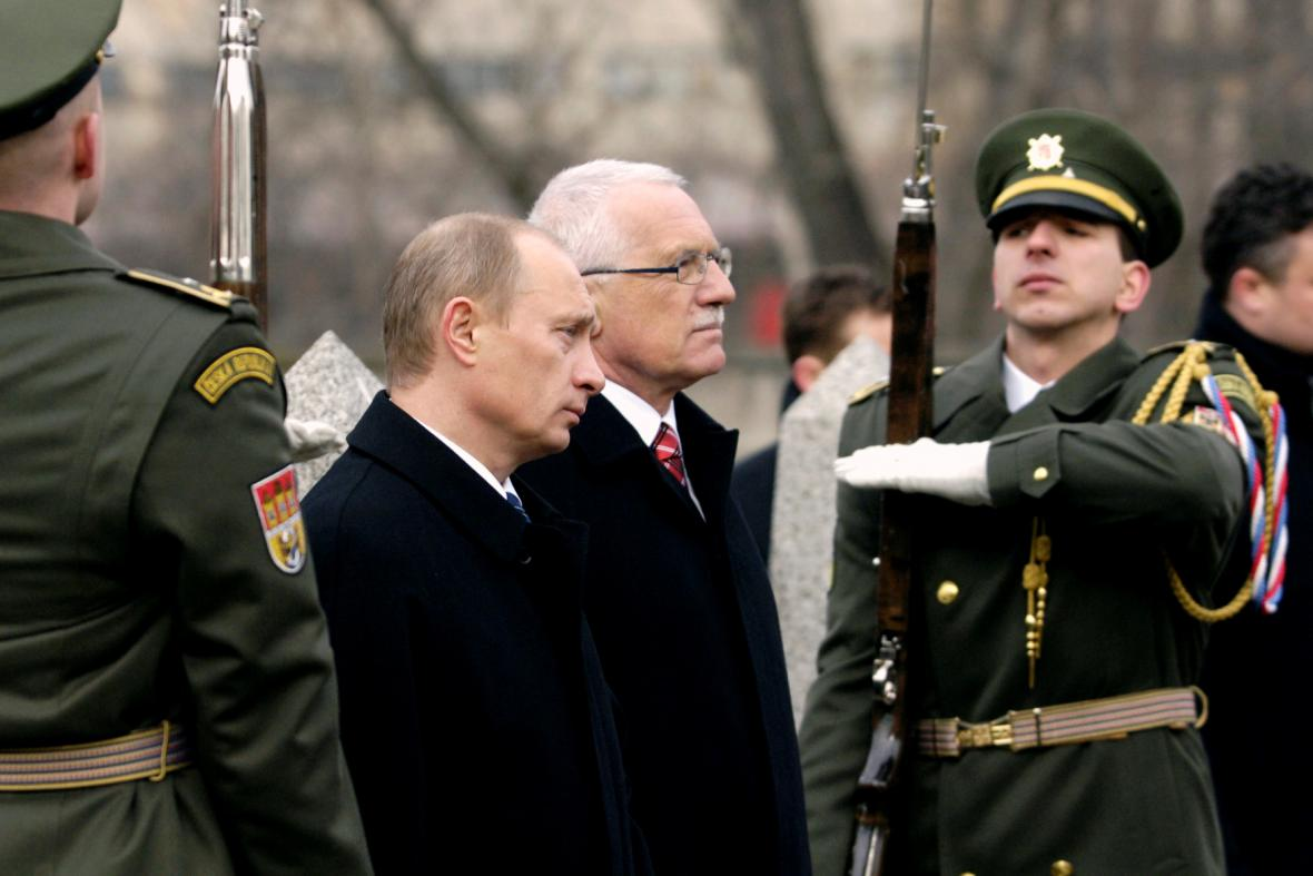 Vladimir Putin v Praze