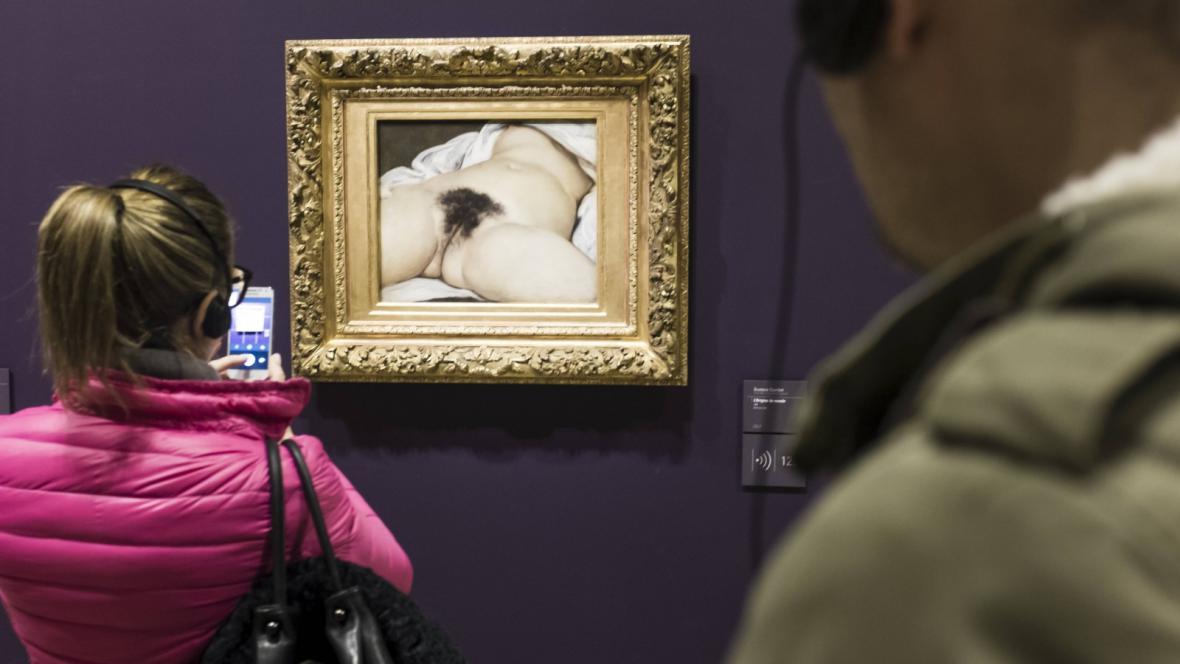 Obraz Původ světa v pařížské galerii Musée d'Orsay