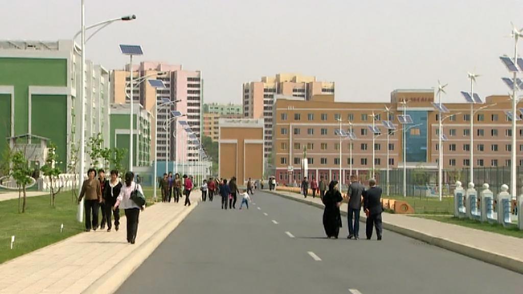 Luxusní čtvrť v Pchjongjangu