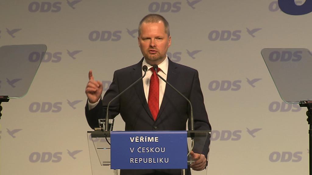 Předseda ODS Petr Fiala na 26. kongresu strany v Praze