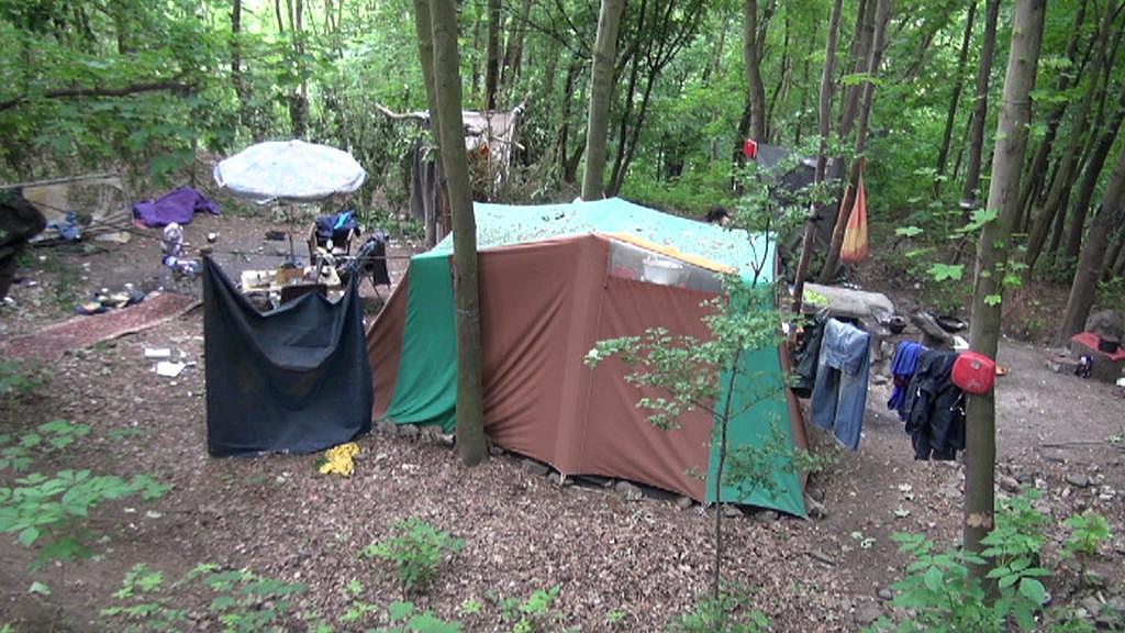 Bezdomovecká kolonie v Ústí nad Labem