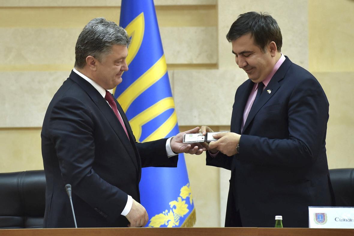 Petro Porošeko jmenoval Michaila Saakašviliho oděským gubernátorem