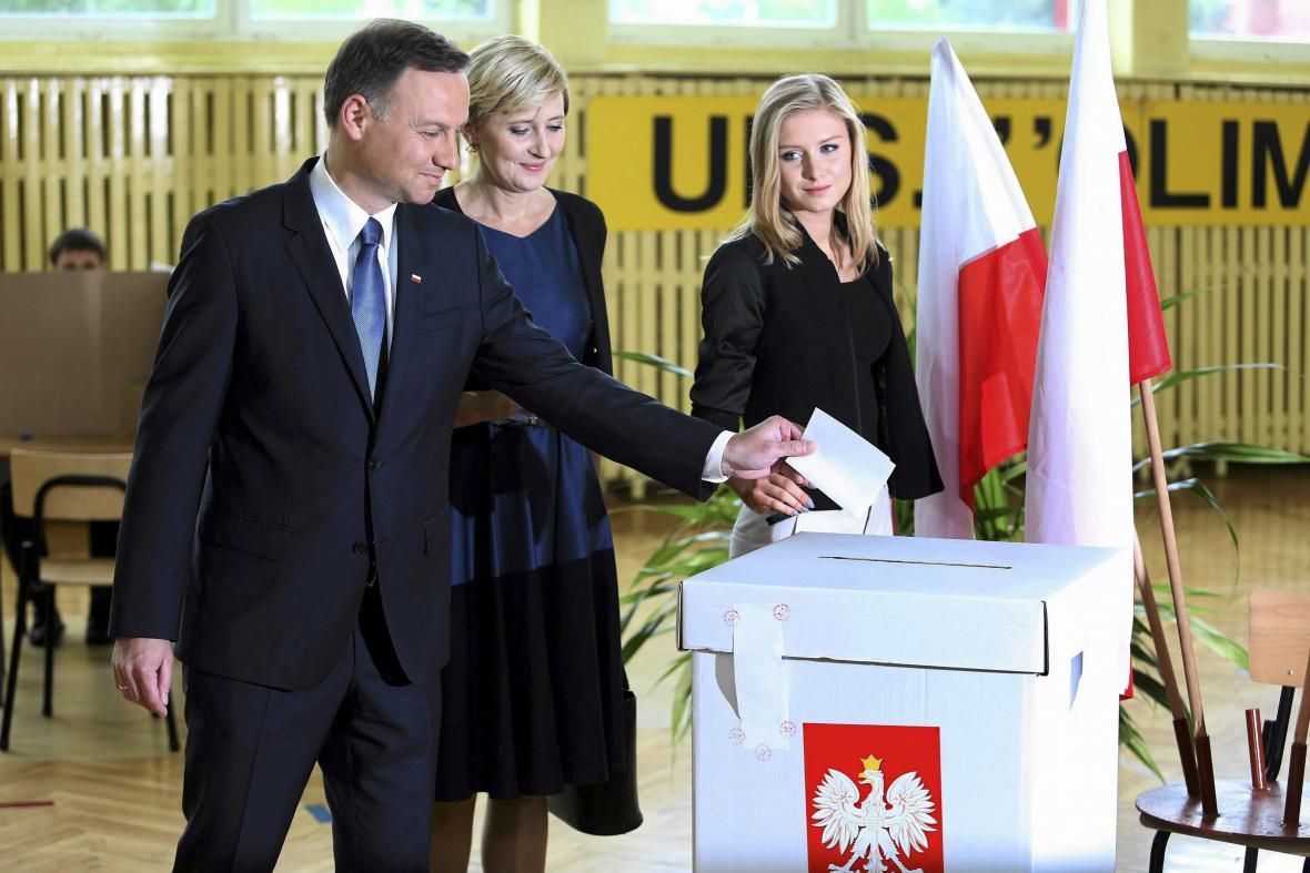 Andrzej Duda s rodinou