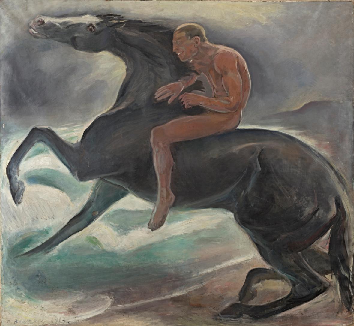 Benno Berneis / Jezdec u moře, 1913
