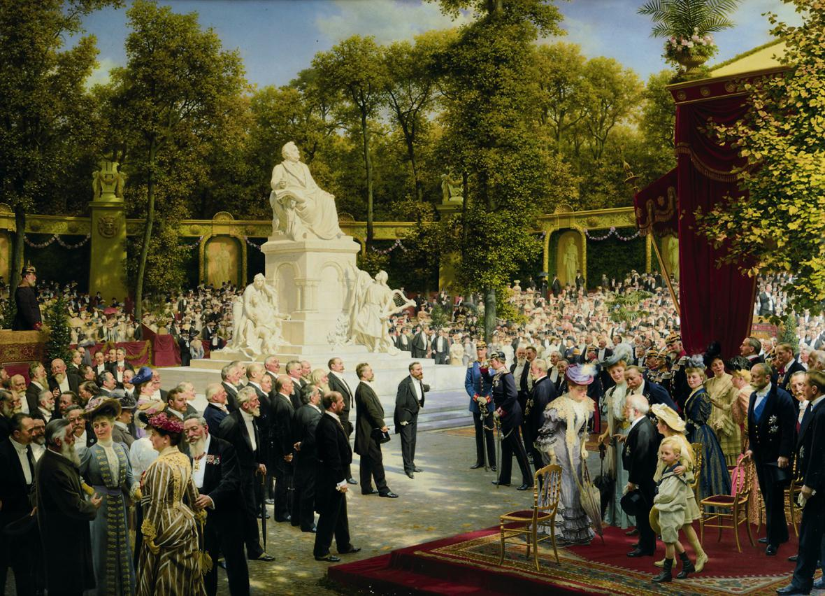 Anton von Werner / Odhalení pomníku Richarda Wagnera v zoo, 1908