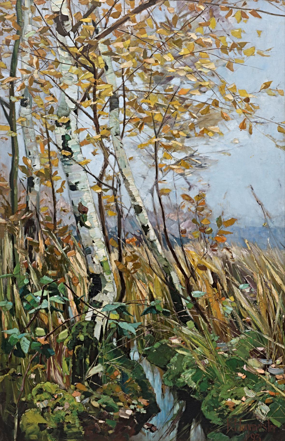 Karl Hagemeister / Březový hájek na podzim, 1893
