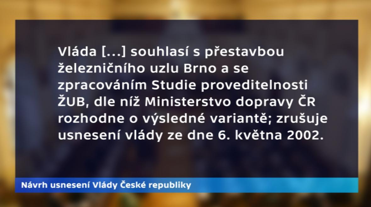 Návrh usnesení Vlády České republiky