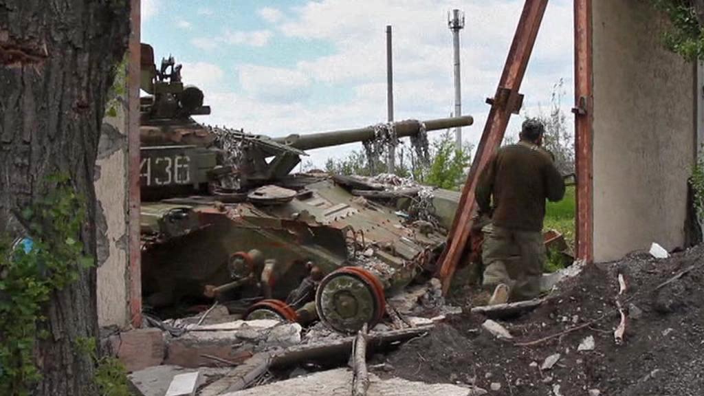 Následky bojů na Ukrajině