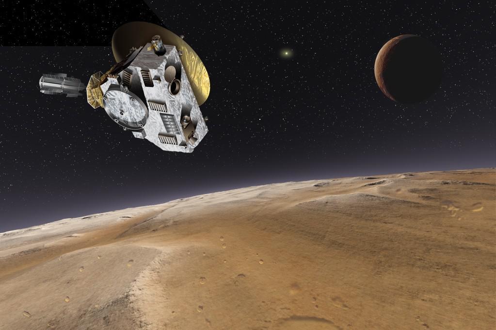 Umělecké ztvárnění sondy New Horizons